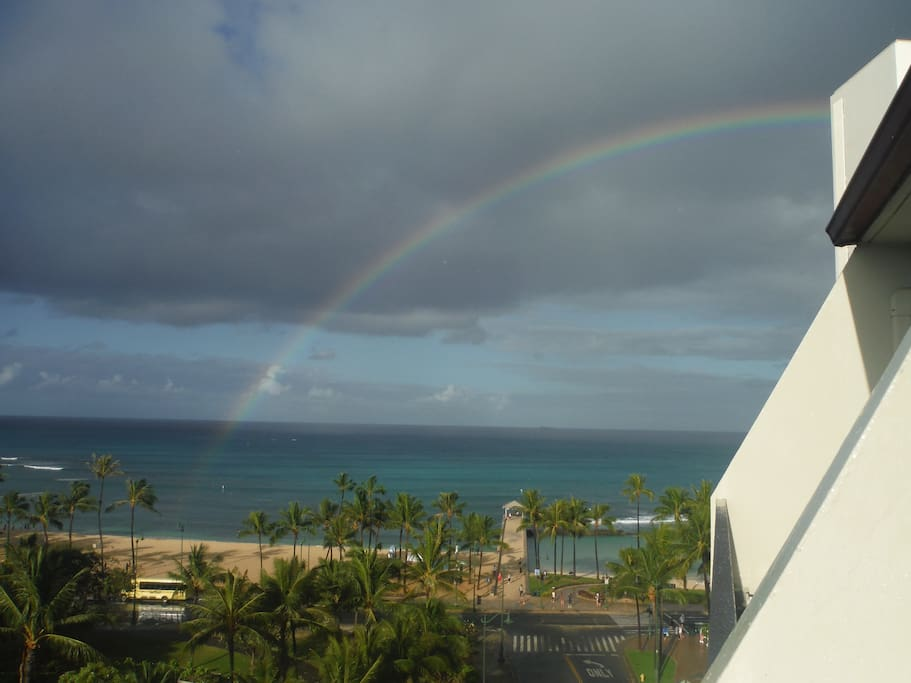 Rainbow view from the lanai