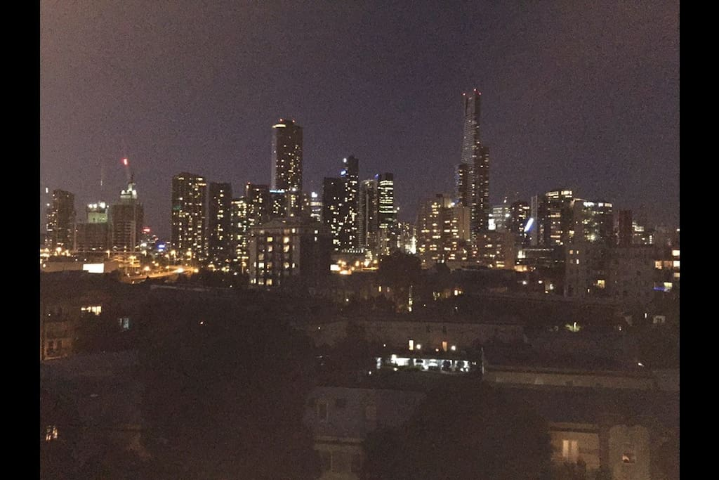 City view from the balcony it spectacular day or night!