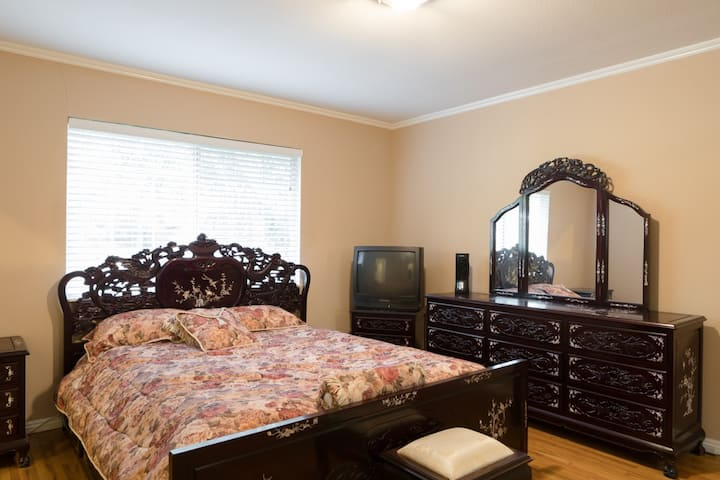 Spacious Master Bedroom with private Master Bath