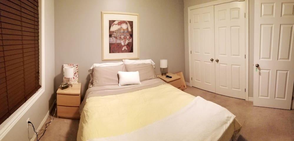 Large bedroom+ private bath in central Kingston.