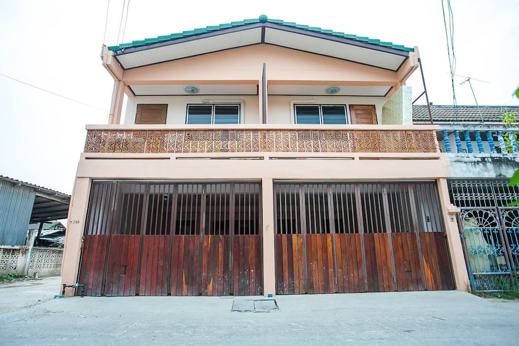 Our house has 40 square wah; 2 bedrooms, suitable for 6-8 persons and no additional charge. Our house detail as below:  * 2 bedrooms  * 2 restrooms  * 1 living room  * 1 kitchen  * 1 terrace  * BBQ area
