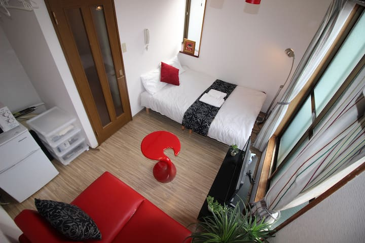 Osaka!Namba! quiet and comfy room★Wifi★301
