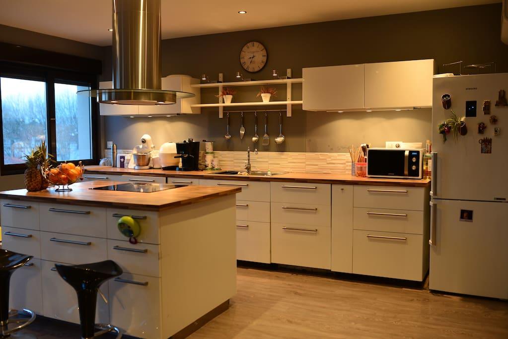 cuisine ouverte avec ilot