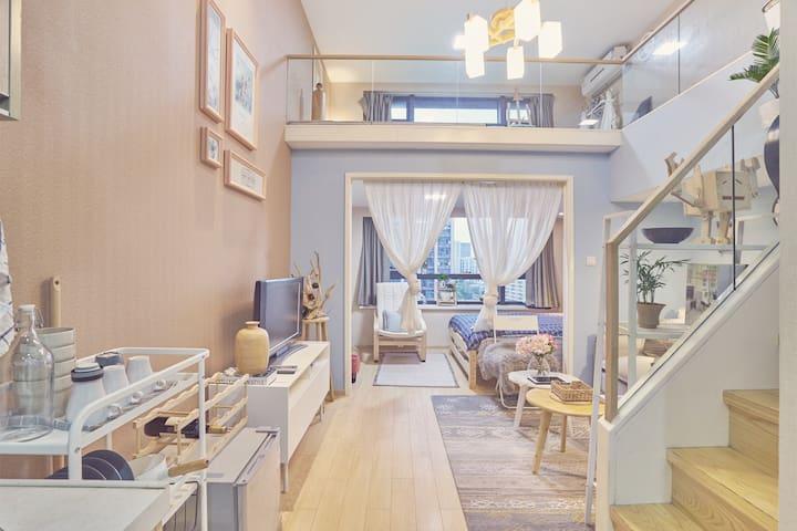 北欧极简风!三房独立卧室带榻榻米茶室loft高层观景房适合多人可开发票 - 杭州市 - Appartement