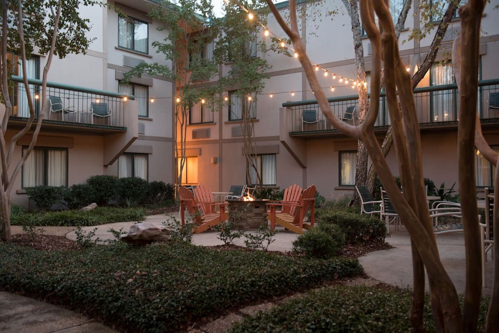 Courtyard with Fire Pit