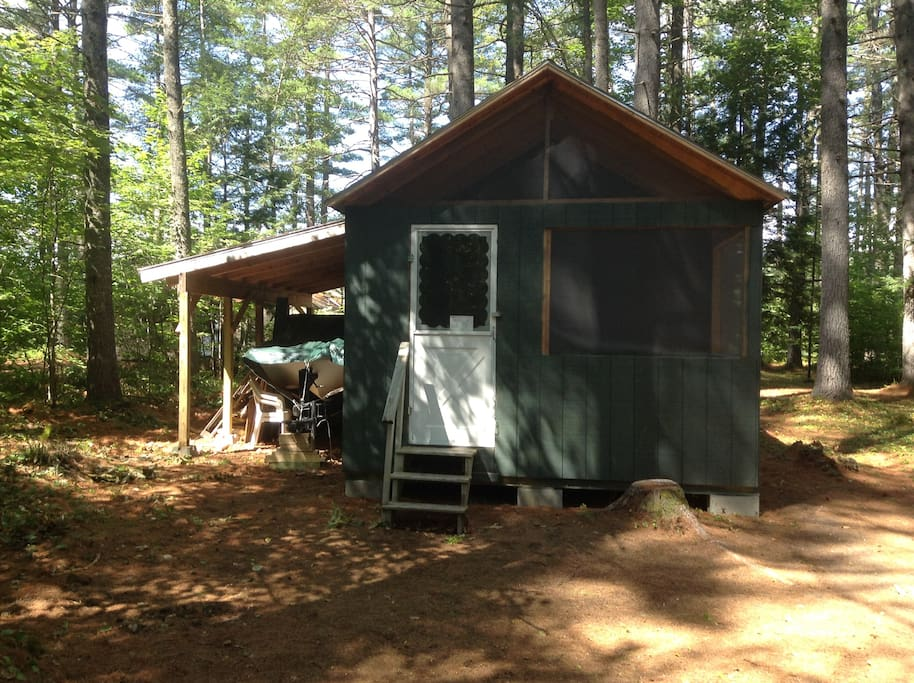 Front side of the cabin