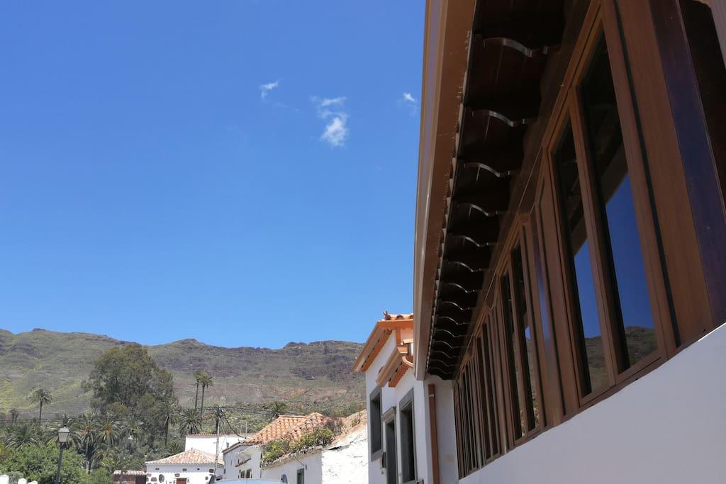 Vista de la casa desde afuera.