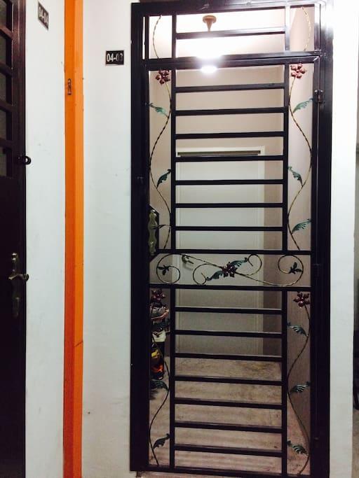 Entrance-safety door