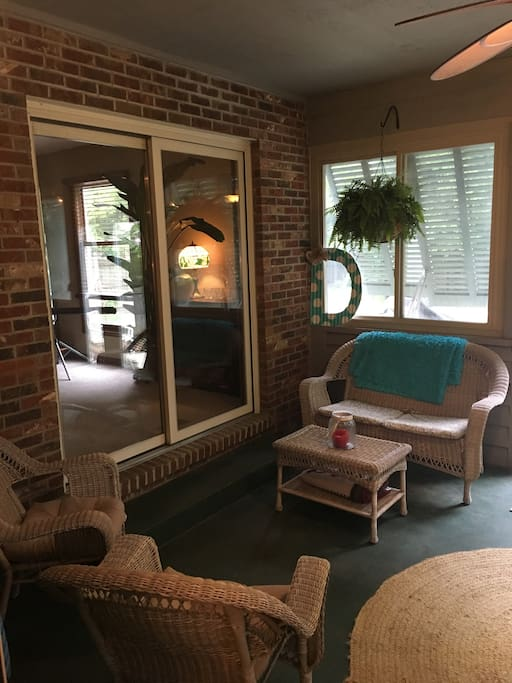 Sunroom provides more space to relax or chit chat
