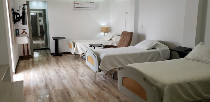 Triple Compartida Recovery House Enfermera 24/7