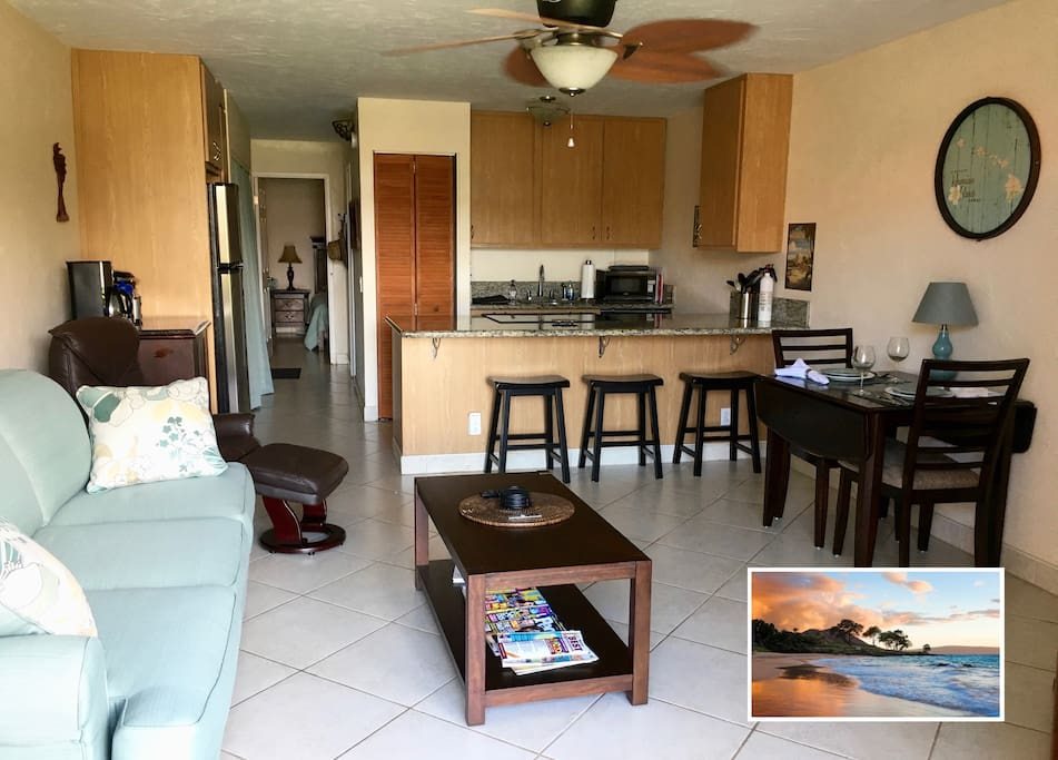 1 br/1Ba Unit with new Sofabed and updated kitchen