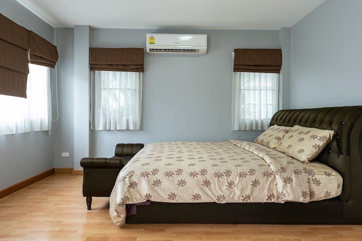 Bedroom 1 with comfy bed