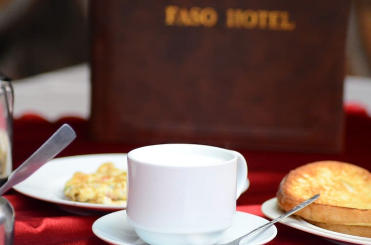 Enjoy our buffet breakfast at only 10,000 UGSHS.