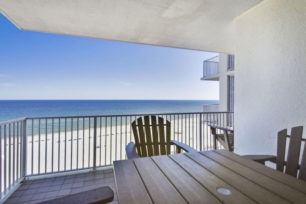 Private Balcony offers fantastic view of gulf.