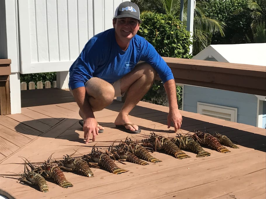Lobster Season, grill them out in the outside kitchen on the deck