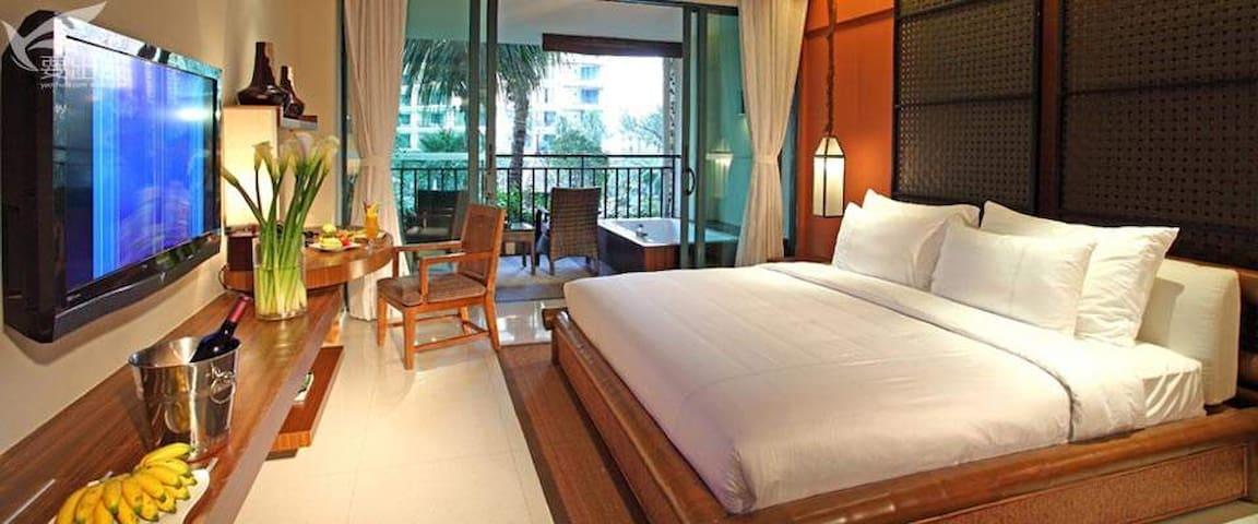 三亚湾海韵度假酒店海景套房、标间低价住