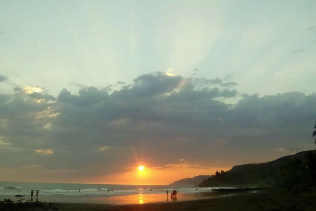 the sunset of El Zonte