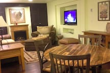 A basement hide away - great place for games and TV viewing.