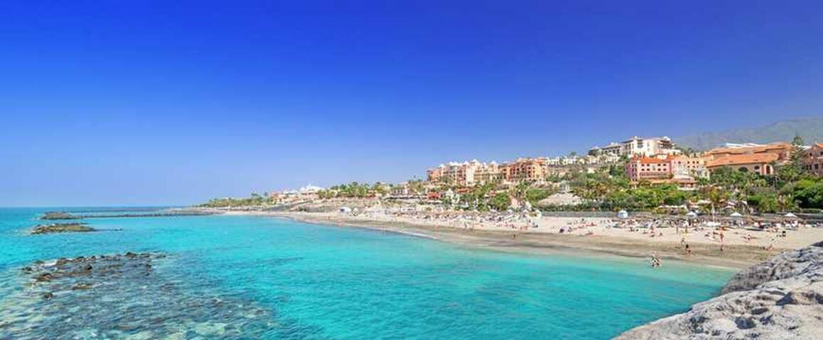 Apartment on the beach Adeje-Arona /wi-fi Tenerife