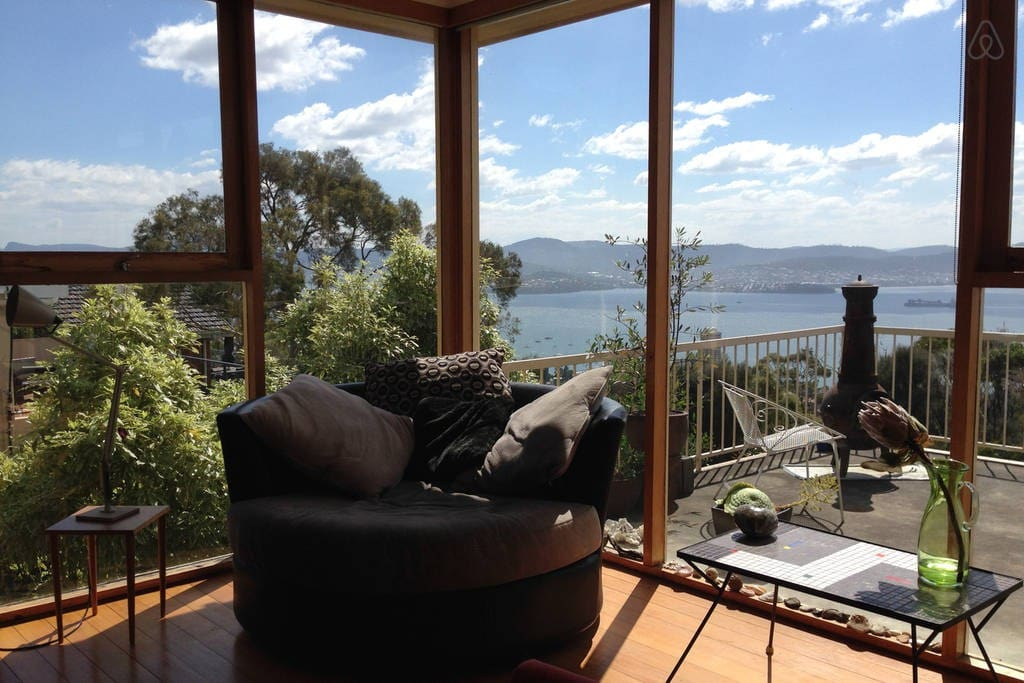 Luxurious swivel chair - built for two! Sun, views and a good book.