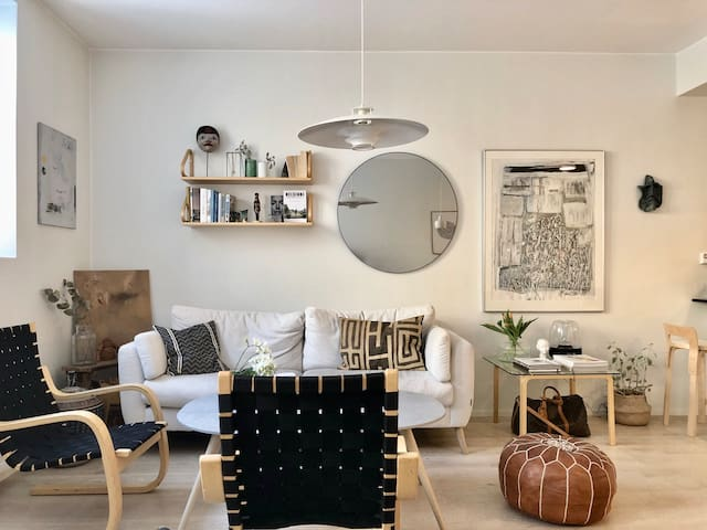 Studio Apt (40m2) in Helsinki's design district.