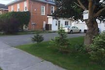 LANEWAY, front street, garage parking for motorcycles