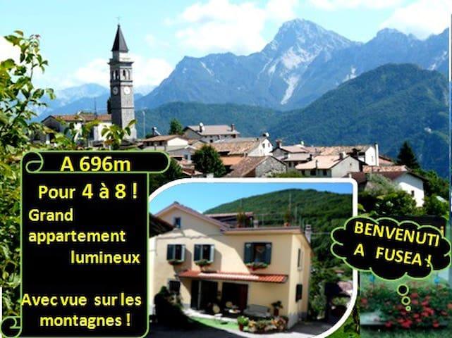 A 6 à 696m avec vue exceptionnelle sur les monts ! - Tolmezzo - Casa