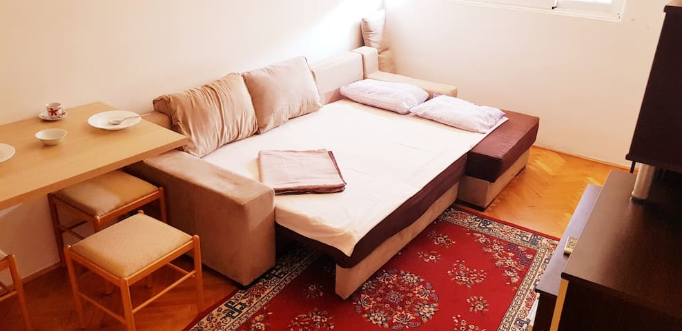 Studio 5 min by walk from the Bus / Train station!