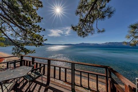 Beachfront Tahoe Home with panoramic Views of Lake Tahoe