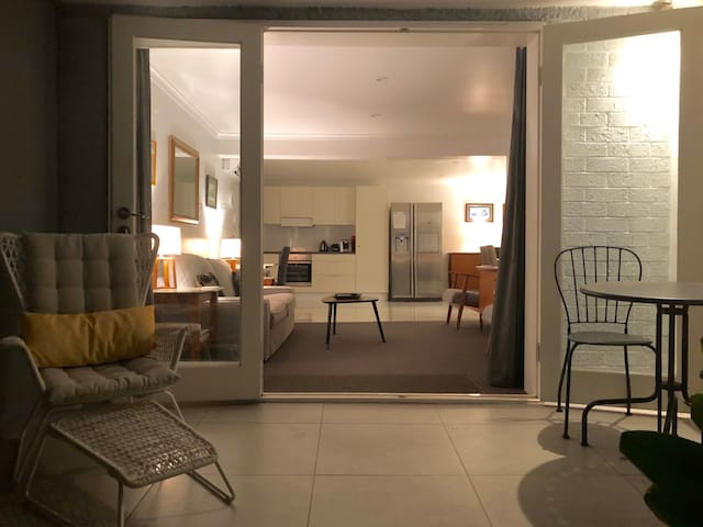 The main entrance to your accommodation is private and well lit. There is off-street parking for one car in the shared driveway with plenty of on-street parking for extra cars.