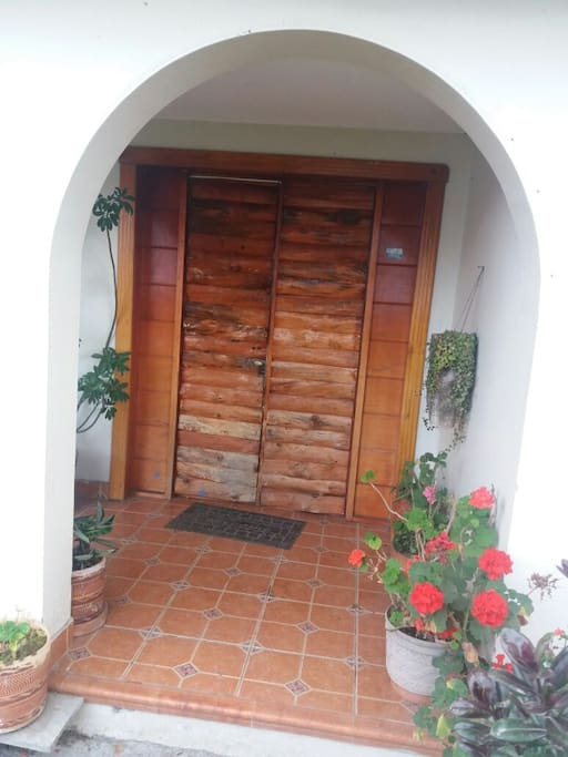 Puerta principal frontal