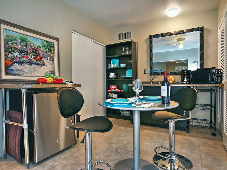 Relax in your fully-equipped kitchen area