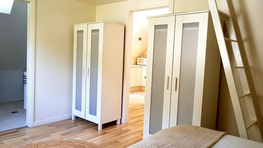 Two wardrobes with plenty of hanging space