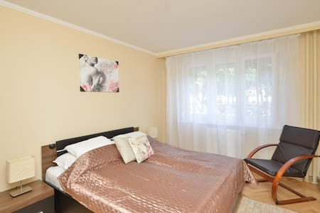 NEW,PRETTY APT. FREE PARKING,GOOD PRICE in ÚJBUDA! - Budapest - Leilighet