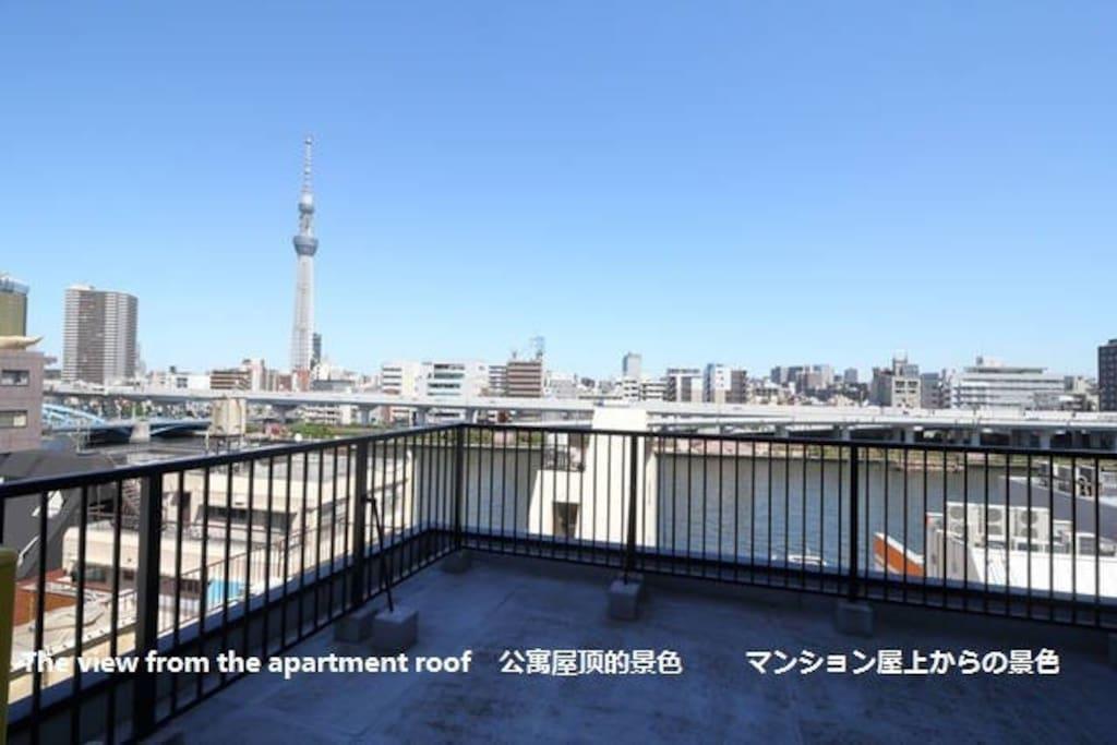 公寓屋顶的景色