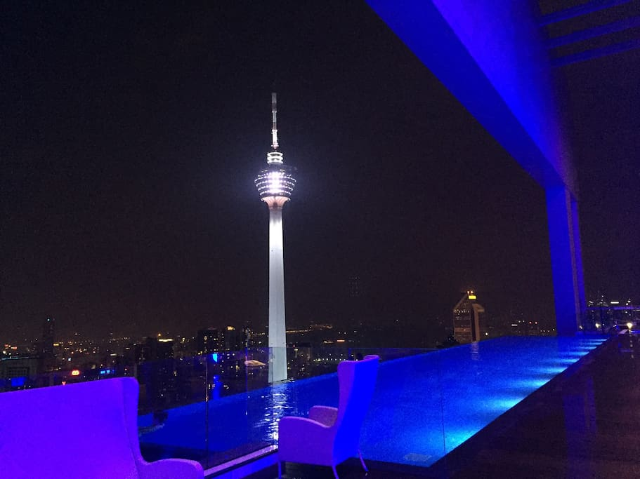 KL Tower view from rooftop!
