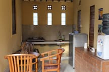 We provide a  kitchen are fully equipped with equipment and a place to eat