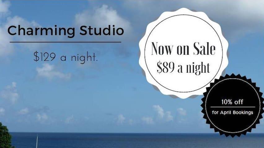 Charming Ocean Side Studio - Asan - Lejlighed