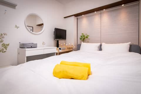 Shinjuku Simple Private Double Bed Room/Free WiFi