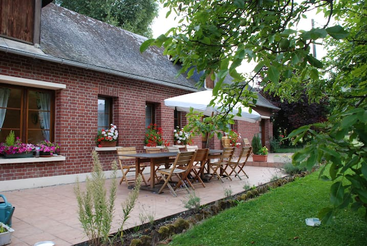 Chambre beige au fil de l'eau - Saint-Germain-sur-Bresle - Bed & Breakfast