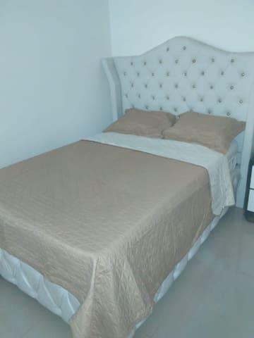 Bedroom #2 full Bed, a closet & A/C unit