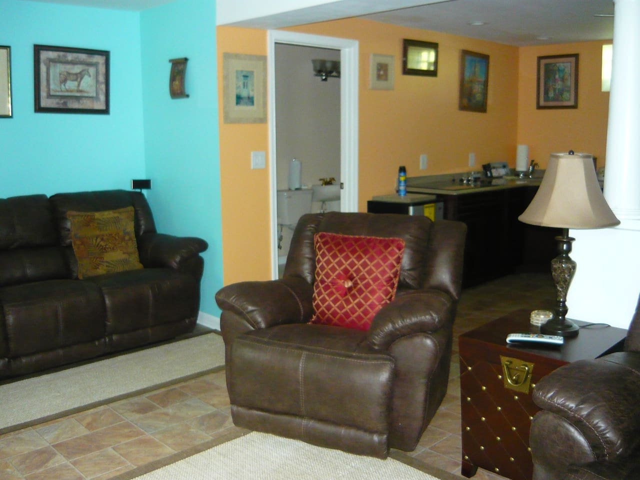 recliner theater seating throughout