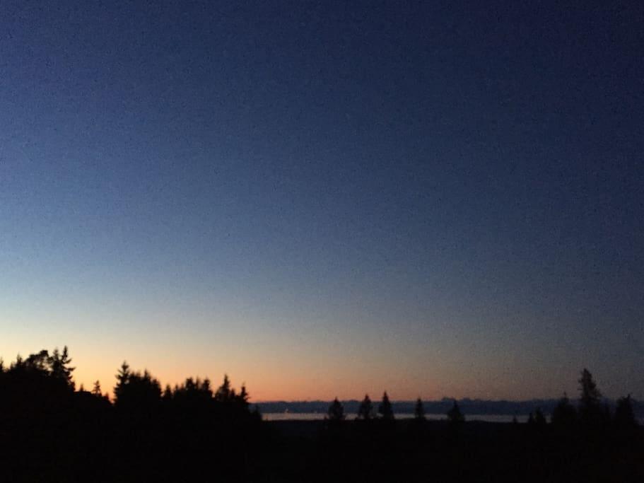 A relaxing sunset