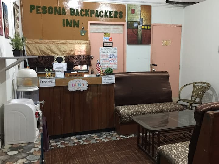 Pesona Backpackers Inn -Twin bed with Fan (2 pax)