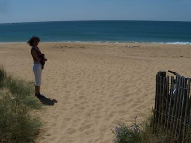 Aller à la plage à pied...