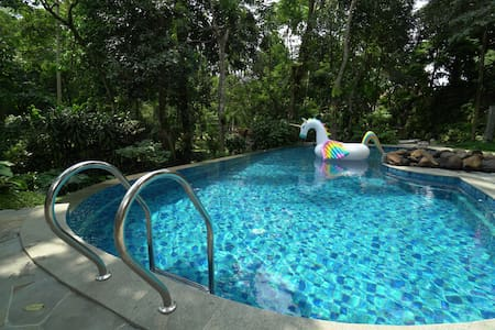 1BR Villa Lavender w/ Shared Pool at Rumah Gadog