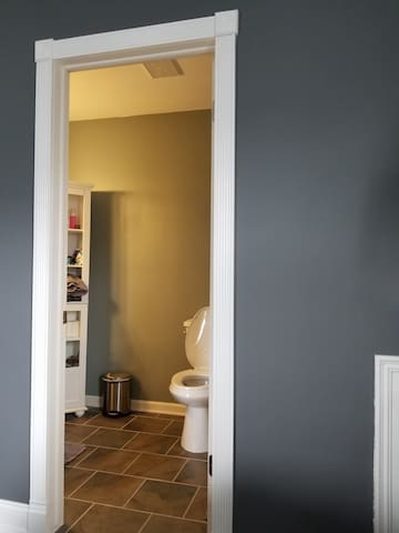 Entrance  to private bathroom located within the master bedroom