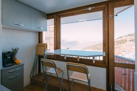 studio vue Mont Blanc, ski aux pieds La PLAGNE - Mâcot-la-Plagne