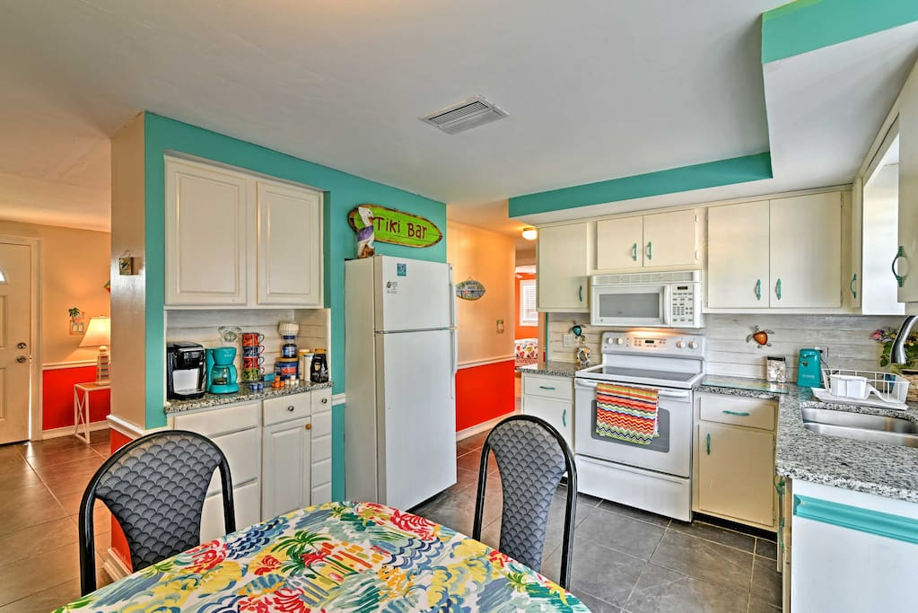 The charming home has everything you need for a comfortable stay.