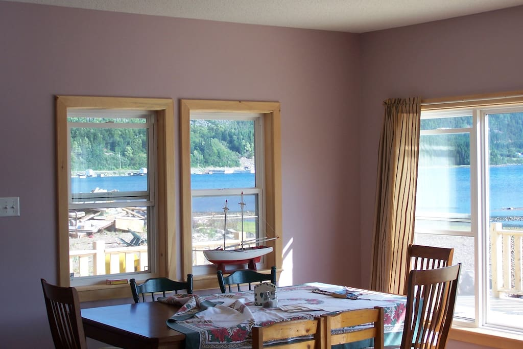 Beautiful views from dining room